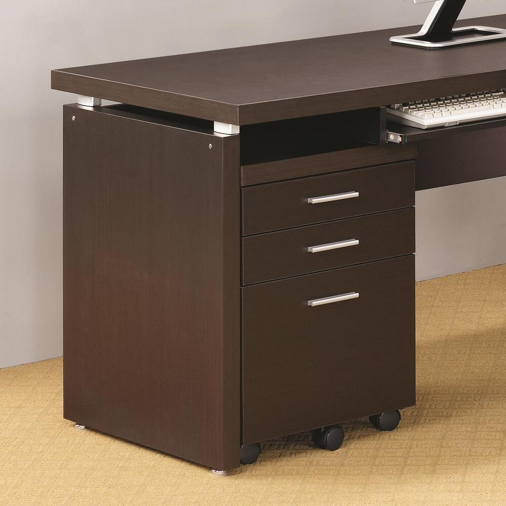 modern file cabinets coaster 800894 skylar mobile pedestal with 3 drawers and 23500