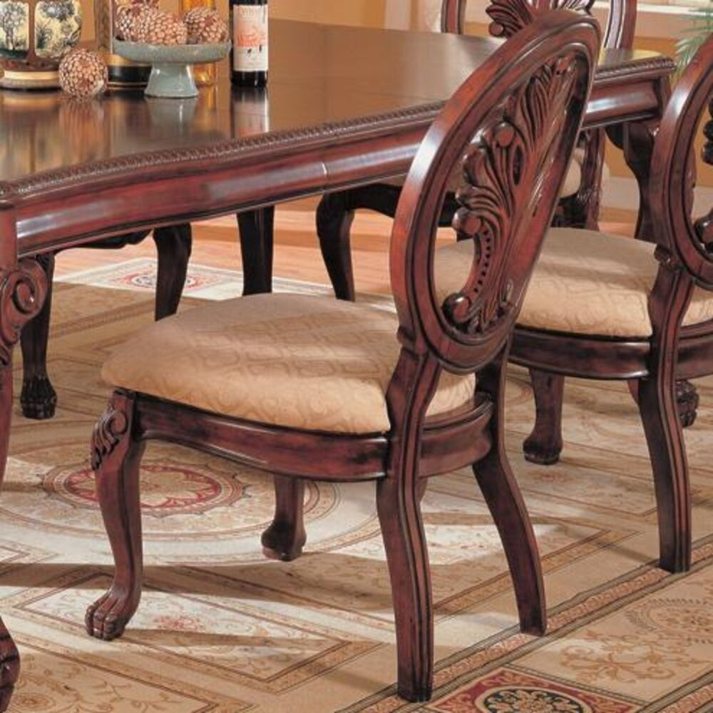 Cleopatra Ornate Traditional Cherry Formal Dining Room: Coaster 101032 Tabitha Traditional Dining Side Chair