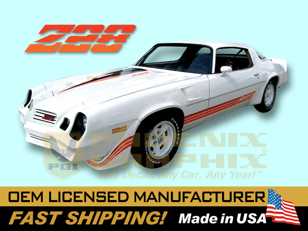 1980 1981 Chevrolet Camaro Z28 Decals Amp Stripes Kit Ebay
