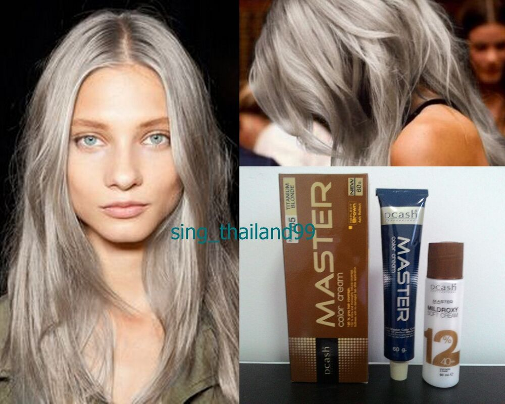 DCASH Master Color Cream Permanent Hair Dye Super Color MG 705 Titanium Blon