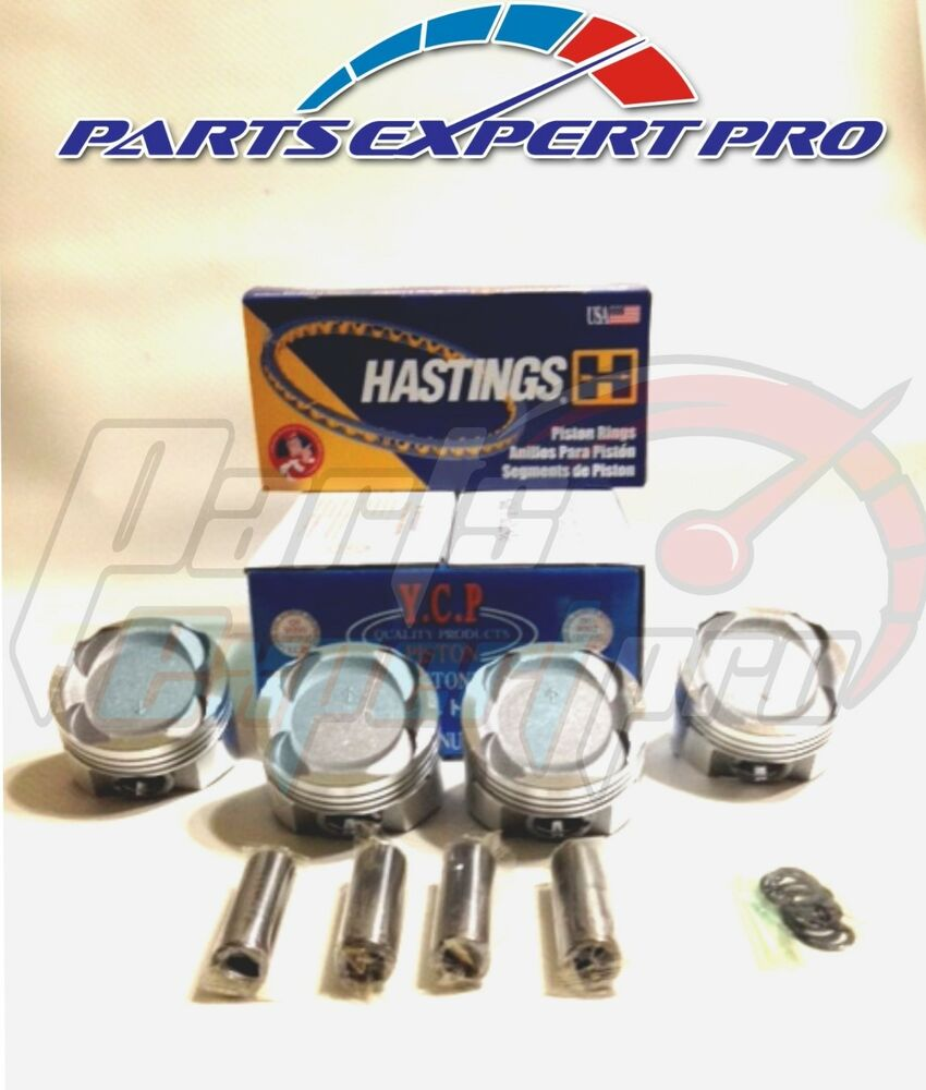 YCP 75.5MM VITARA LOW COMPRESSION PISTONS W/RINGS CIVIC
