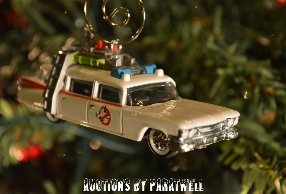 64th Ghostbusters Ecto 1 Christmas Ornament '59 Cadillac Adorno | eBay