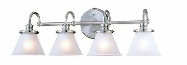 hton bay 4 light brushed nickel wall vanity light cbx1394 2 sc 1 the home depot hton bay brushed nickel four light wall vanity 512790 ebay