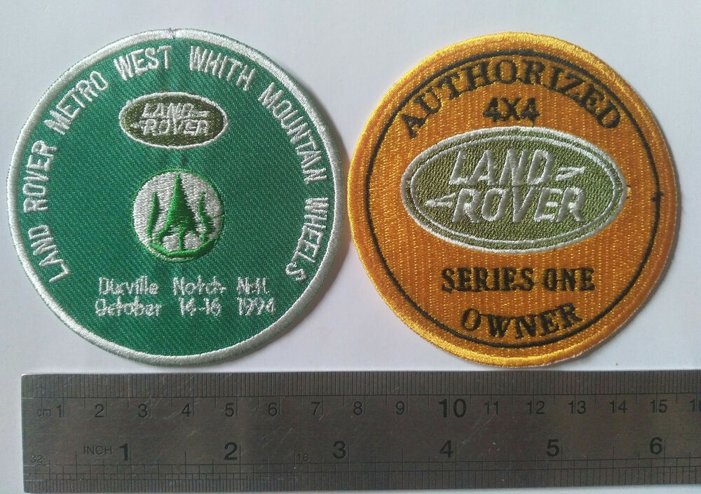 2x Land Rover Series 1 2 A Club Badge Vintage Classic