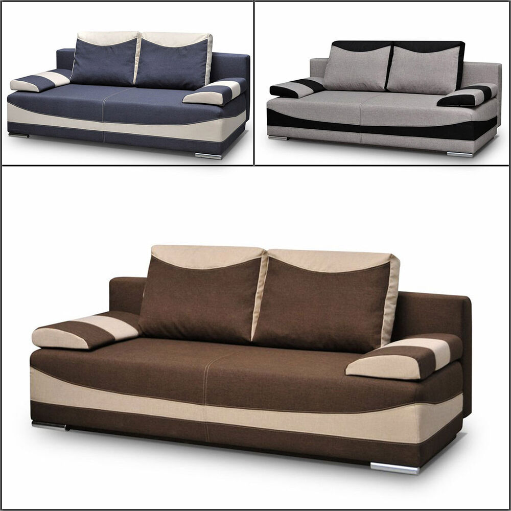 schlafsofa dallas sofa schlaffunktion bettkasten couchgarnitur sofagarnitur ebay. Black Bedroom Furniture Sets. Home Design Ideas