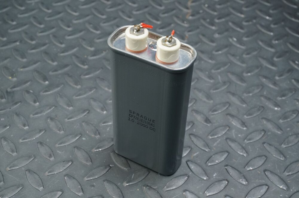 1 Uf 2000 V Paper Dielectric Paper Capacitor Sprague Dc