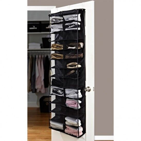 Home collections 26 pocket over the door shoe organizer ebay for Door shoe organizer