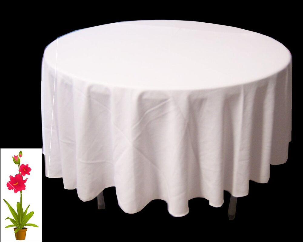 90 Inch Round Polyester Tablecloth Table Cover Cloth