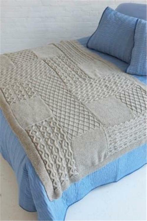 KNITTING PATTERN FOR BLANKET .BED THROW / SHAWL / afgan aran eBay