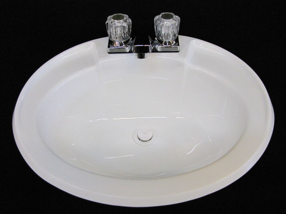 mobile home bathroom sink mobile home rv parts bathroom lav sink w faucet drain 19550