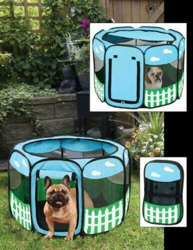 pet portable play pen exercise kennel tent dog soft playpen cat fold crate puppy ebay. Black Bedroom Furniture Sets. Home Design Ideas