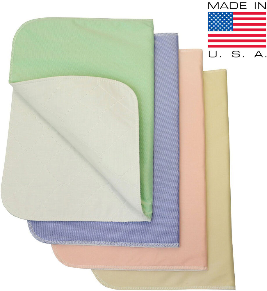 Washable medical bed pads for adult incontinence
