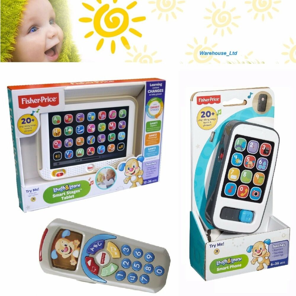 Fisher-Price Smart Phone Tablet Remote Baby Toy Toddler Mobile Phone Educational | eBay
