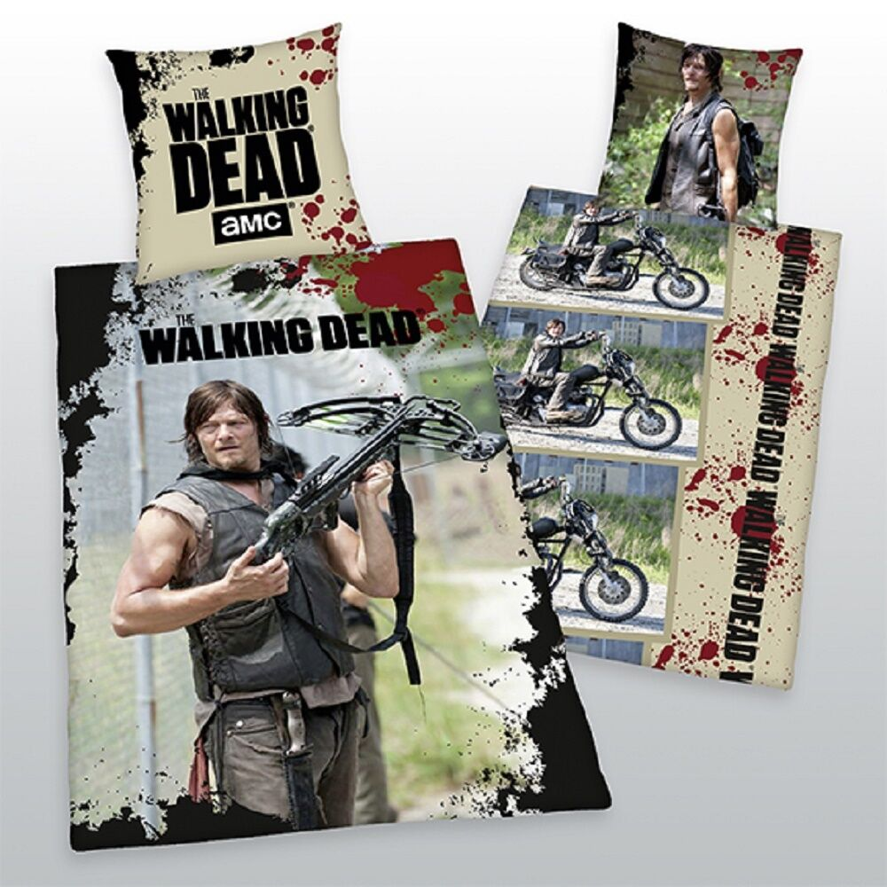 bettw sche the walking dead daryl dixon exklusivmodell 100. Black Bedroom Furniture Sets. Home Design Ideas