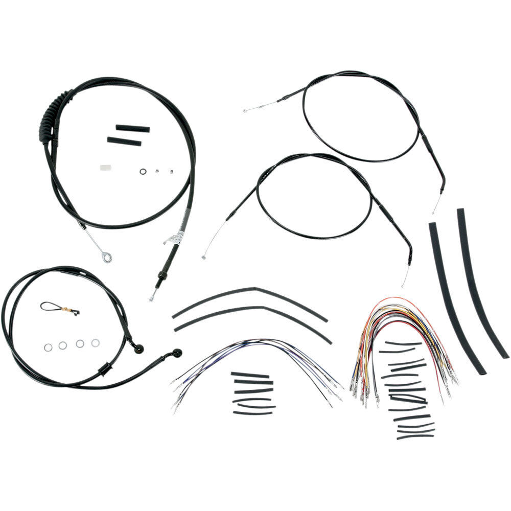burly 14 u0026quot  ape hanger cable  u0026 wiring kit for 2007