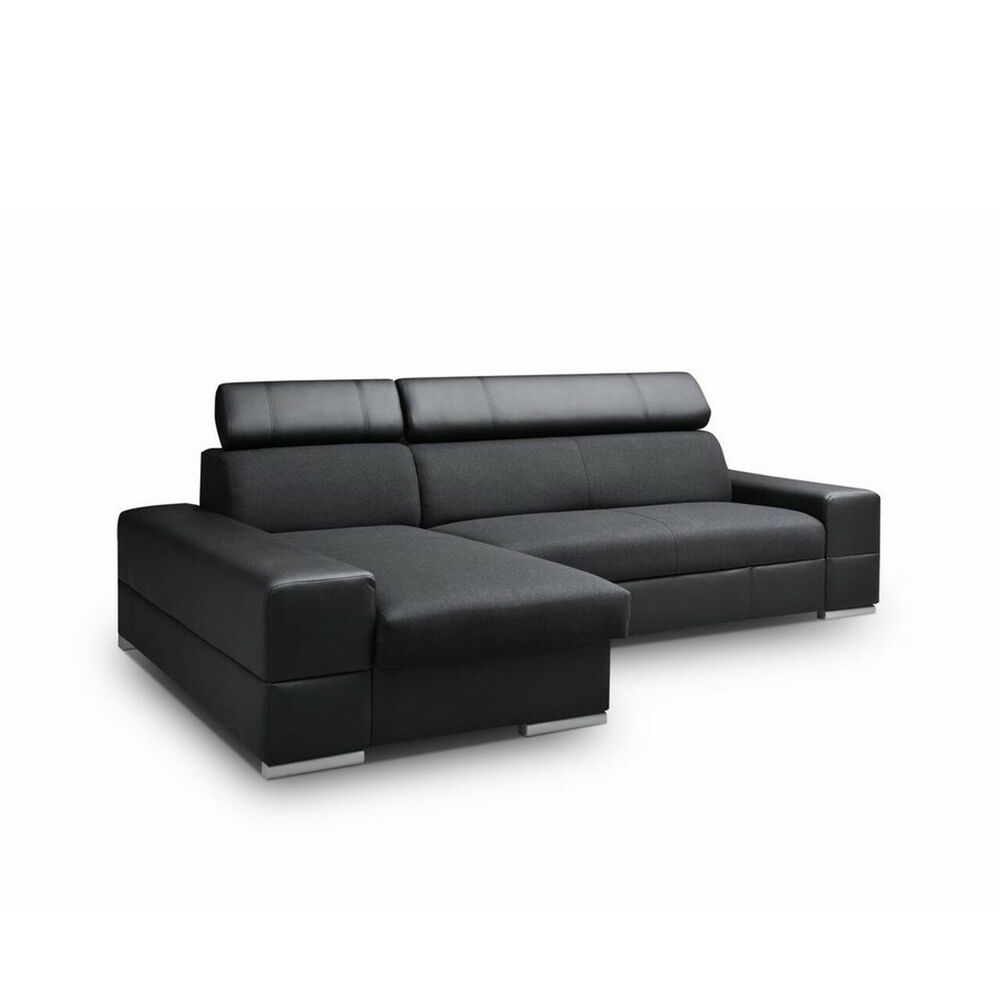 ecksofa clara mit schlaffunktion eckcouch sofa ausziehbares couch vom hersteller ebay. Black Bedroom Furniture Sets. Home Design Ideas