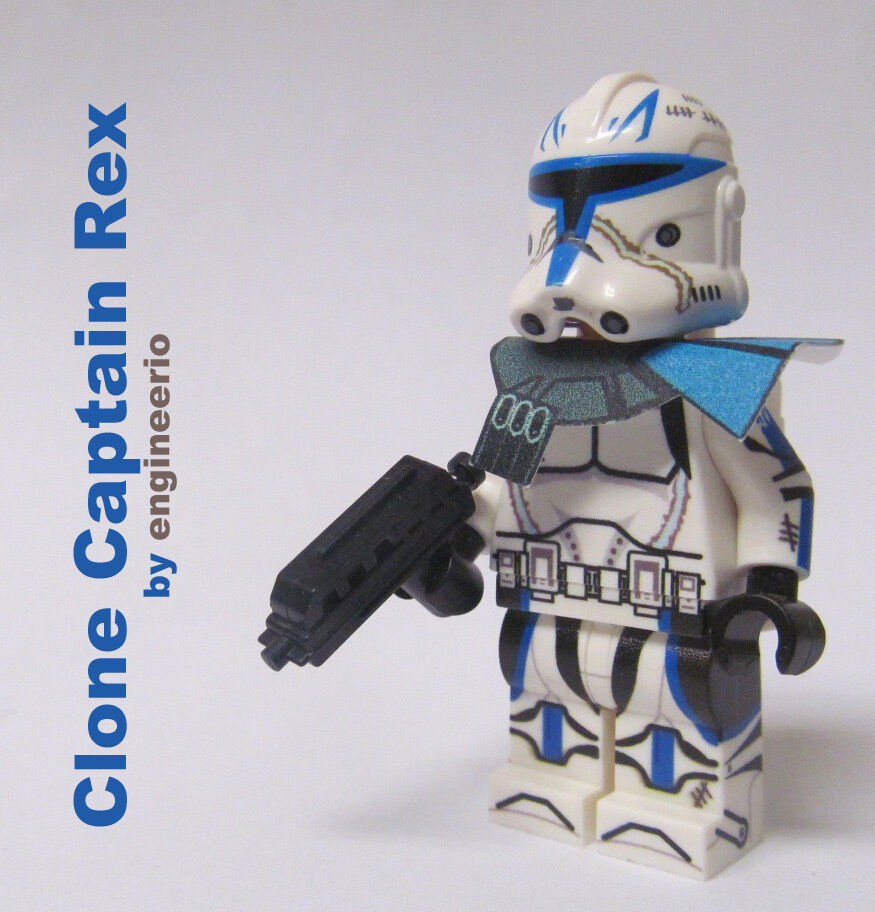 lego custom star wars clone trooper minifigure captain rex. Black Bedroom Furniture Sets. Home Design Ideas