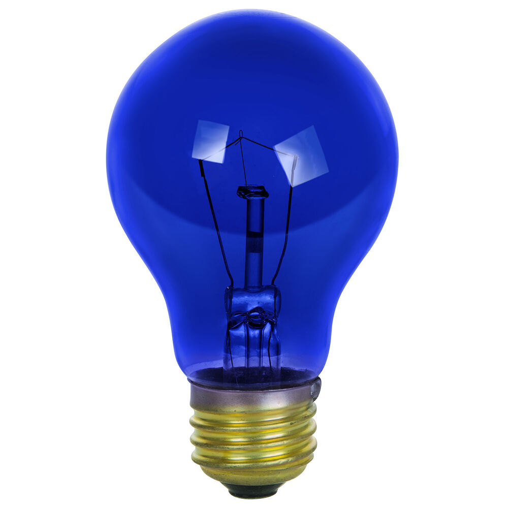 Sunlite Incandescent 25 Watt A19 Blue Transparent 1250 Lumens Light Bulb 2 Pack Ebay