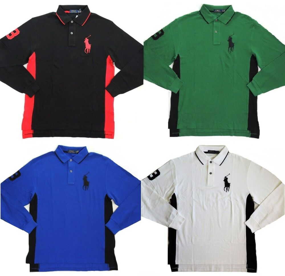 145 Polo Ralph Lauren Long Sleeves Big Pony Mesh Rugby