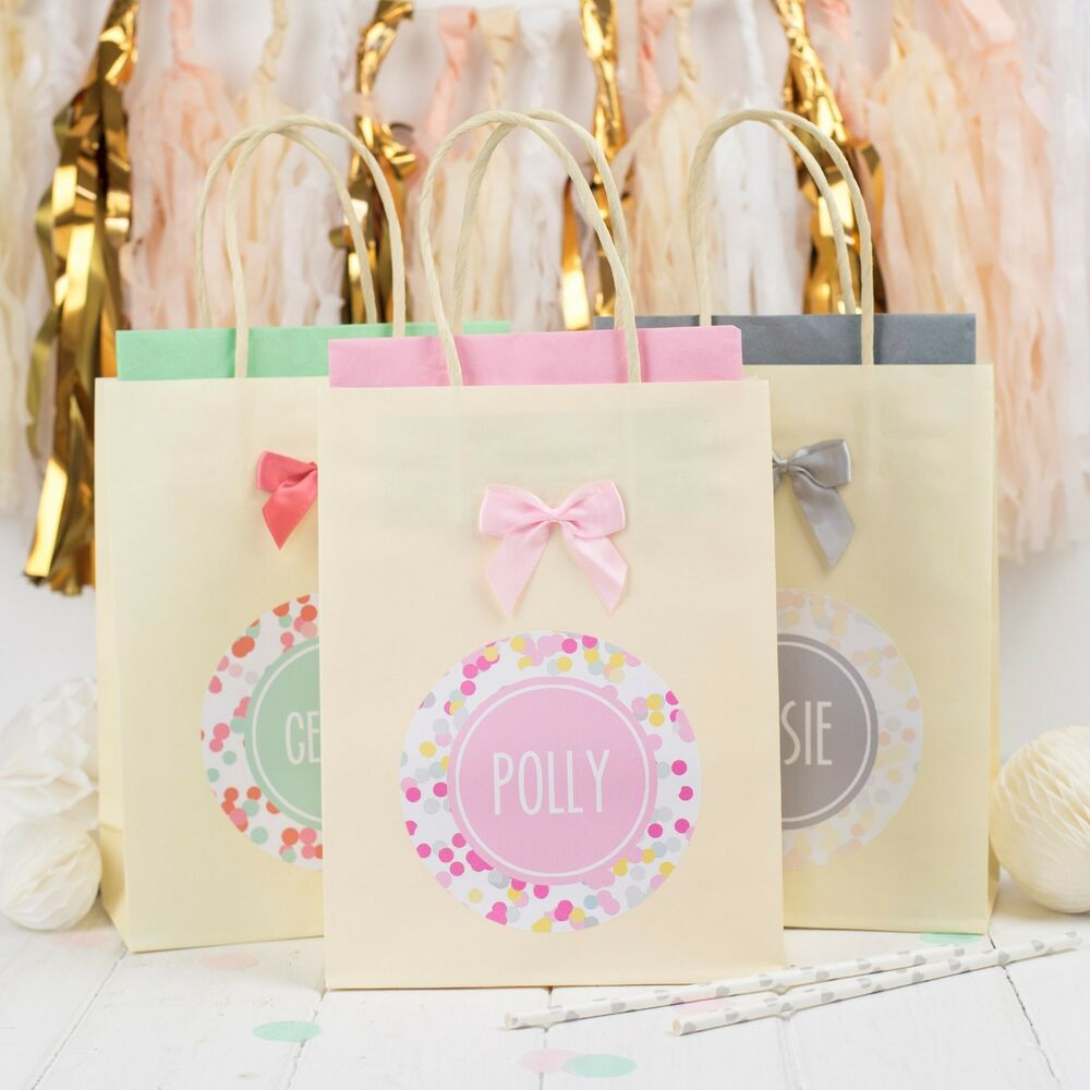 Personalised Wedding Gift Bags Uk : PERSONALISED WEDDING BAGS CONFETTI PAPER PARTY FAVPUR GIFT BAG ...