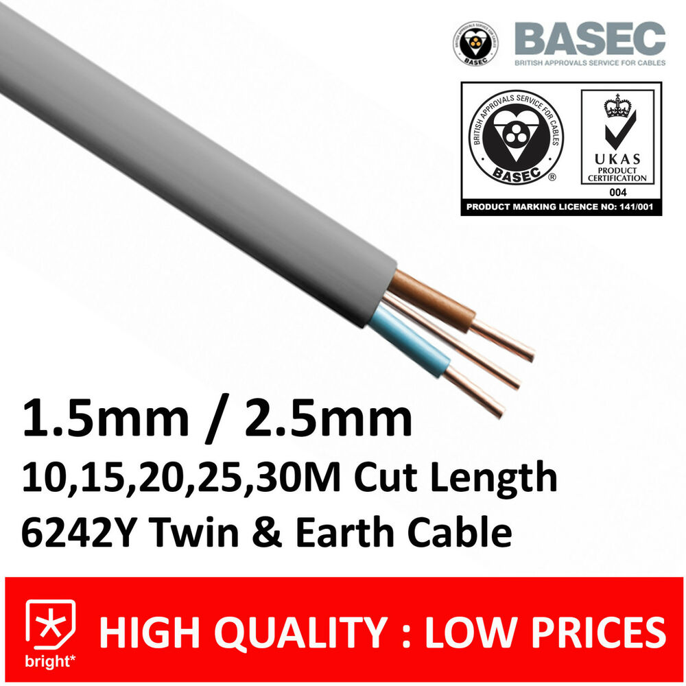 Twin and earth 6242y cable electrical for Precio cable 2 5mm