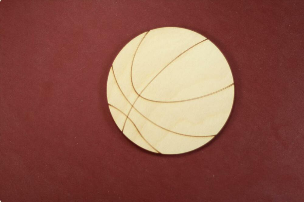Basketball shape unfinished wood laser cut shapes crafts for Wood circles for crafts