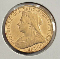 1899 AUSTRALIA GOLD COIN, VICTORIA SOVEREIGN  MELBOURNE MINT