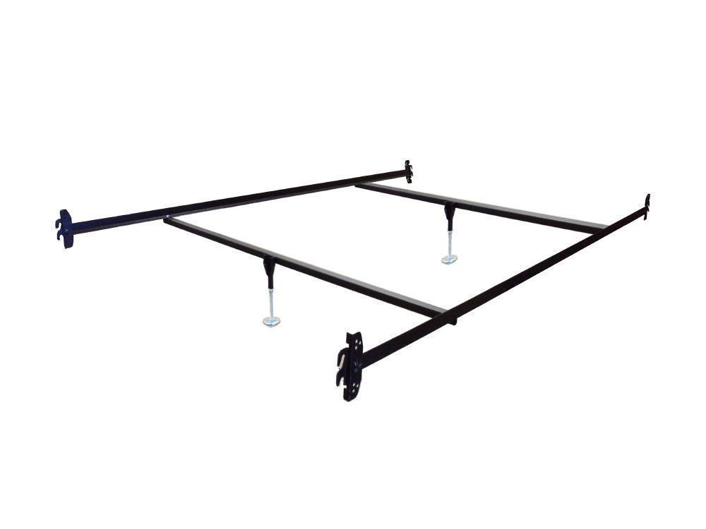 queen size hook on bed frame rails with 2 cross beams with leg glides ebay. Black Bedroom Furniture Sets. Home Design Ideas