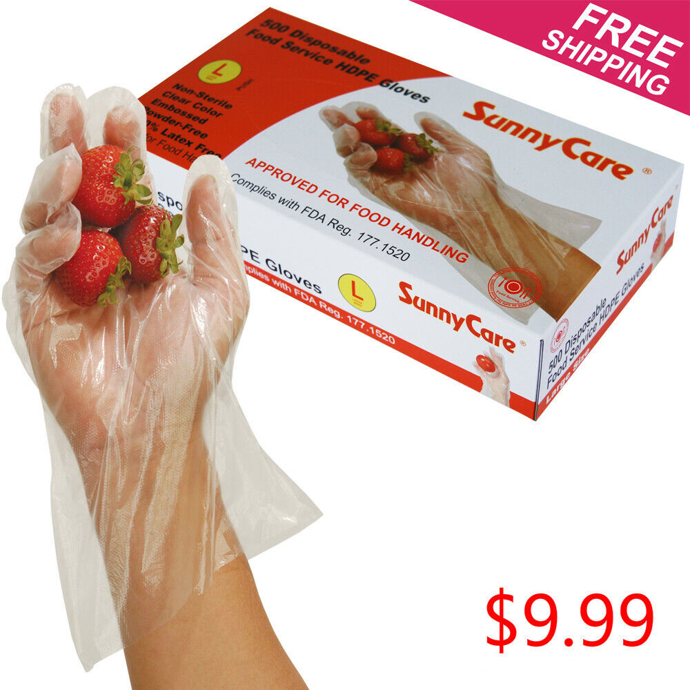 Gloves food service vinyl latex
