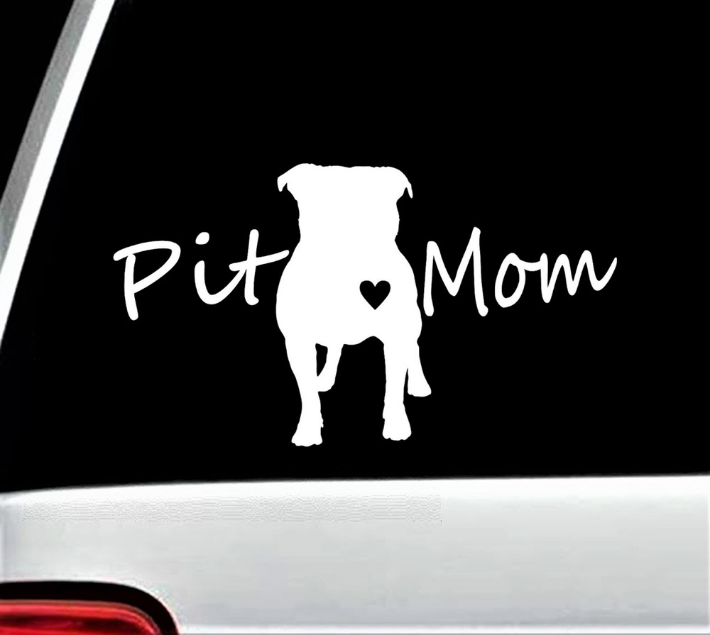 A1182 Pit Mom Pit Bull Pitbull Dog Decal Sticker