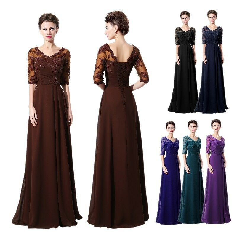 Lace Mother Of The Bride Dresses Long Women Evening Gowns