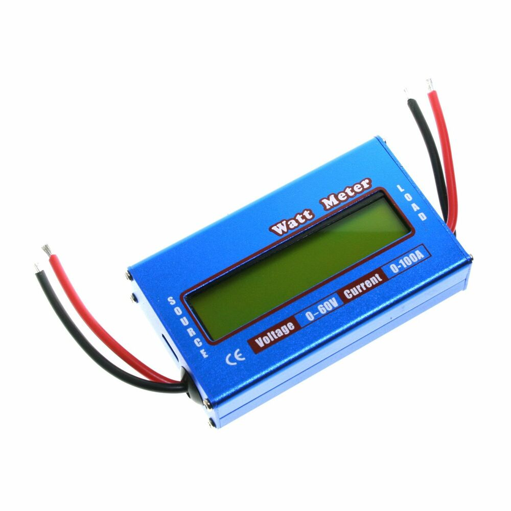 digital lcd watt meter battery balance ammeter amp analyzer 60v 100a dc rc volt ebay. Black Bedroom Furniture Sets. Home Design Ideas