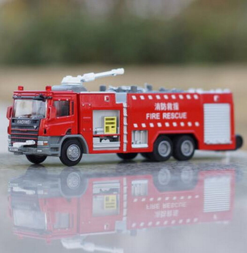 KDW 1:50 Scale Diecast Fire Rescue Trucks Vehicle Cars