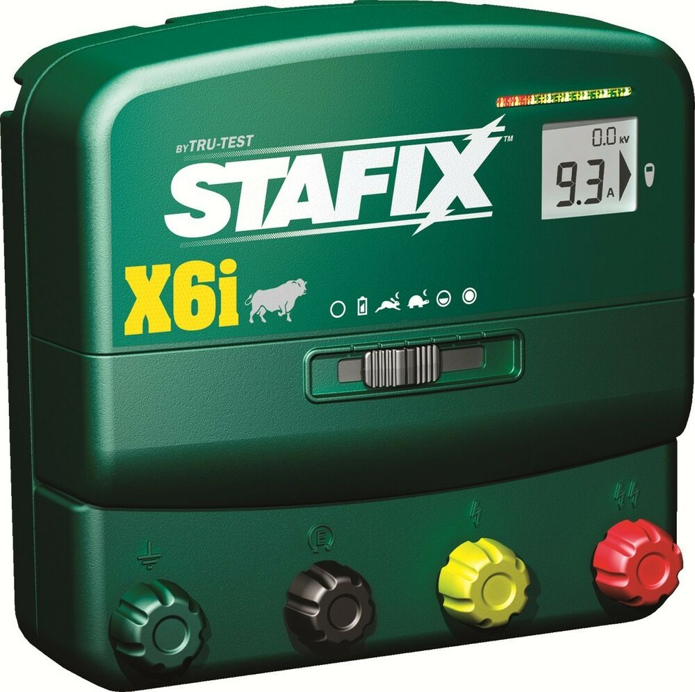 Stafix X6i Energizer 60 Mile Fence Charger Ac Dc Powered