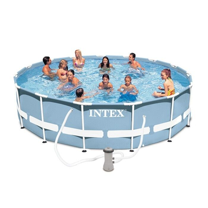 Intex 12ft x 30in prism frame swimming pool with pump new for 2017 ebay - Intex 12x30 metal frame pool ...