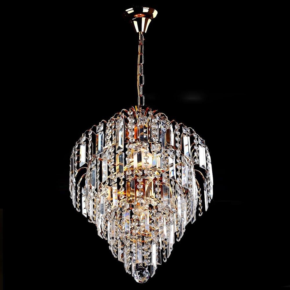 Elegant crystal chandelier modern ceiling light lamp pendant lighting fixtures ebay - Light fixtures chandeliers ...
