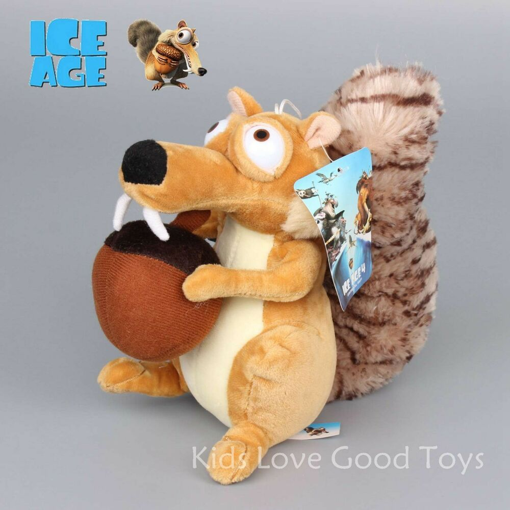 Toys From Ice Age 1 : Ice age continental drift funny squirrel scrat plush