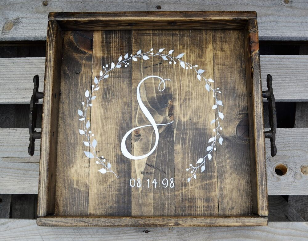 Personalized Hand Painted Square Reclaimed Wood Rustic