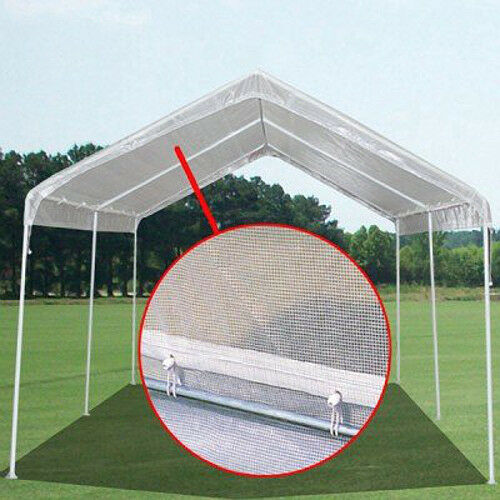 Replacement Tarp For Carport : Heavy duty mil clear valance replacement canopy