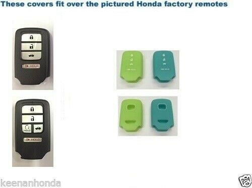 Details About Silicone Rubber Smart Key Remote Cover Fits Honda Pilot Ridgeline 16 18 Glow