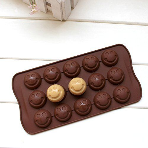 Smiley Face Emoji Mold Smiling Shape Candy Ice Cube Tray