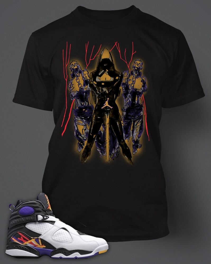 2bf6ae9ce Details about Mens Walking Dead T-shirt to match AIR JORDAN 8 Big and Tall Sizes  S-10XL Black