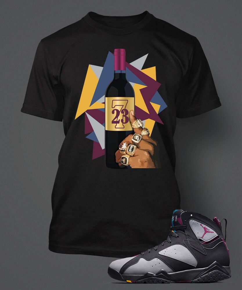 t shirt to match air jordan 7 retro bordeaux pro club t sizes s 7xl black ebay. Black Bedroom Furniture Sets. Home Design Ideas