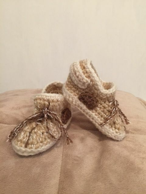 ... hand crochet baby yeezy 350 inspired booties shoes tan new ebay ... 1ac49747a