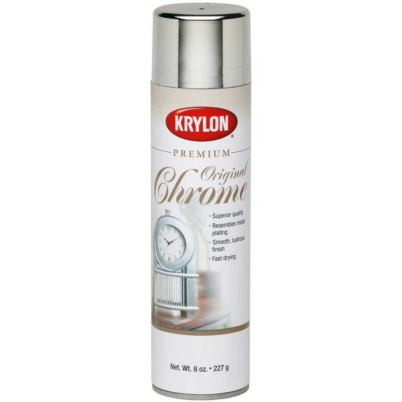 krylon 1010 metallic spray paint 8oz original chrome new ebay. Black Bedroom Furniture Sets. Home Design Ideas