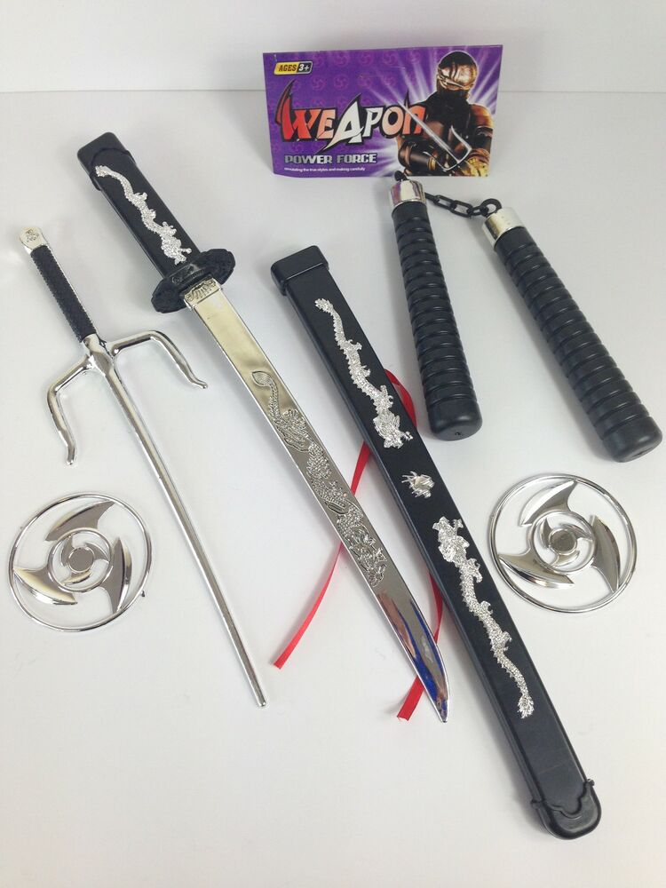 Toy Swords And Guns : Kids plastic toy samurai sword ninja weapons set