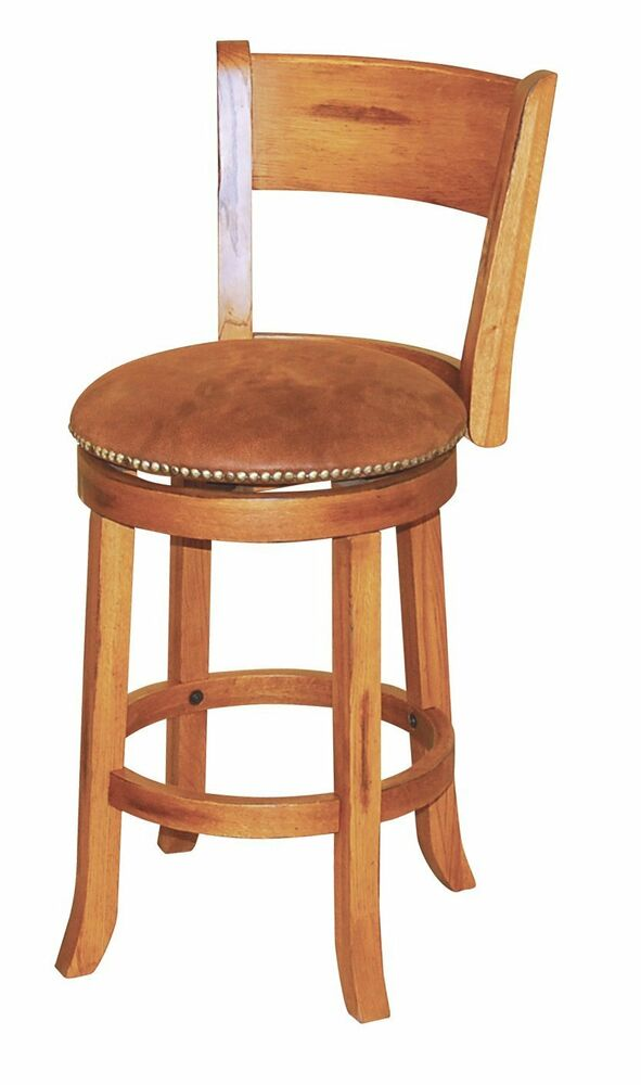 Sunny Designs 1883ro Sedona Swivel Stool With Back Rustic