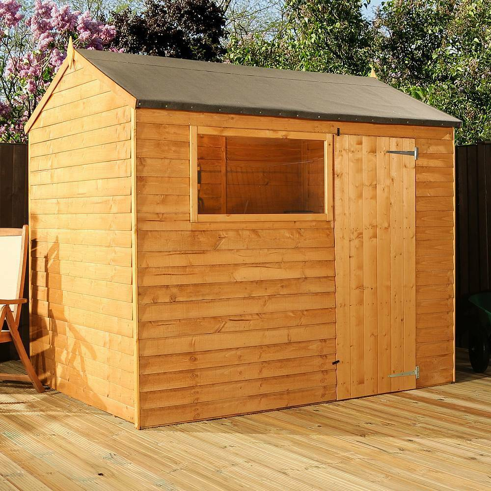 8x6 wooden garden sheds 8ft x 6ft new un used apex wood