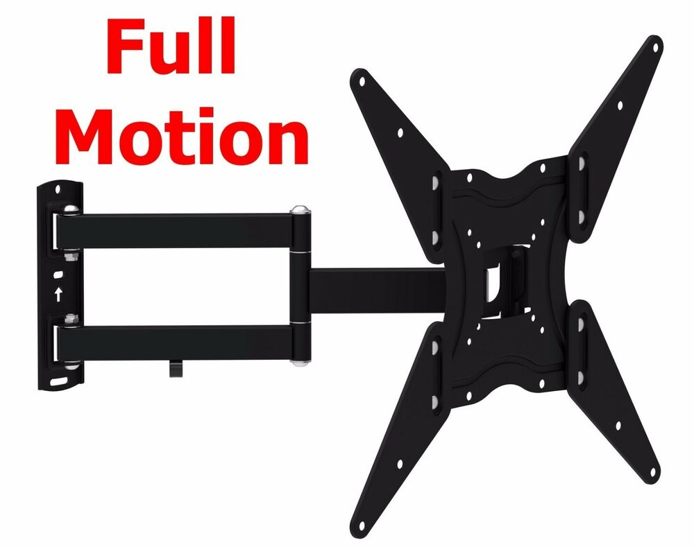 full motion tv wall mount swivel bracket 32 40 42 47 55 inch led lcd flat screen ebay. Black Bedroom Furniture Sets. Home Design Ideas