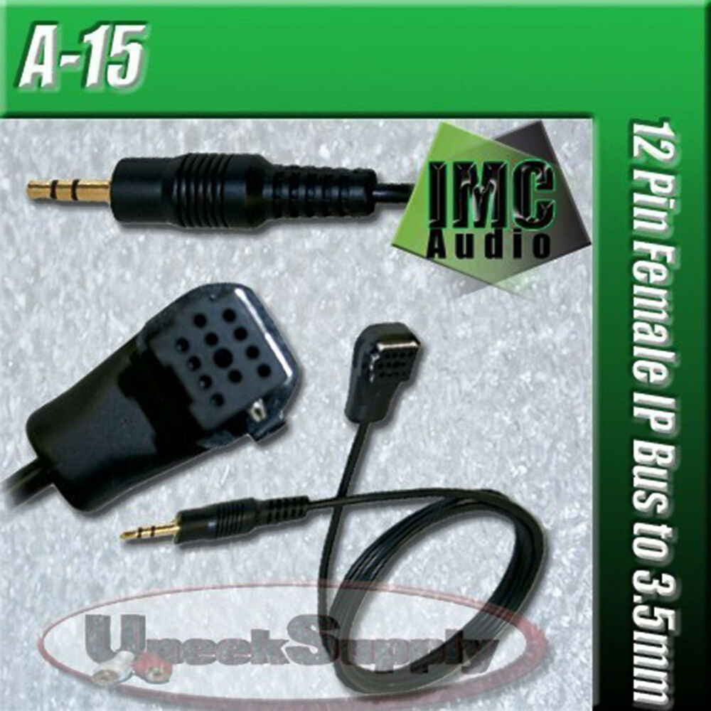 Car Cd Stereo Aux Input Jack Auxiliary Rca Ip Bus Cable: PIONEER 3.5MM AUX INPUT AUDIO CABLE MP3 IPOD CD-RB10 CD